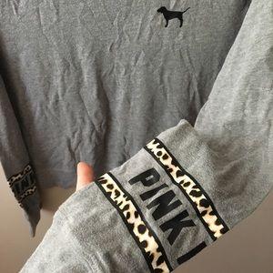 PINK grey cheetah pullover